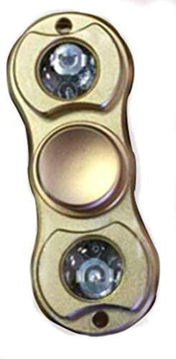 Picture of Hand Finger Spinner Long Time Night Flashlight Led -Gold