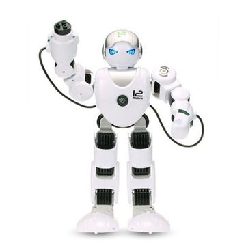 Picture of Remote Controlled Super Intelligent Robot Toy for Kids, White & Black