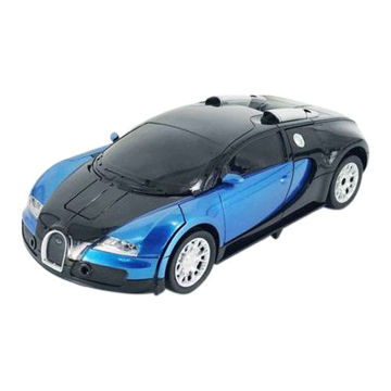 Picture of 2.4 GHz RC Car to Robot Transformer Toy, MT700, Blue & Black