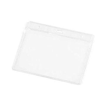 Picture of 12 Pieces Transparent Plastic Badge Holder