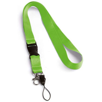 Picture of 20Mm Green Polyester Lanyard X 12 Pieces