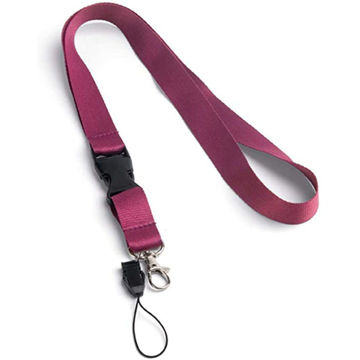 Picture of 20Mm Maroon Polyester Lanyard X 12 Pieces
