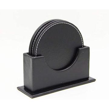 Picture of 4 Pieces Pu Tea Coaster Set