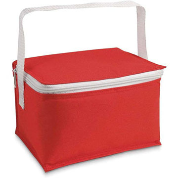 Picture of 6 Cans Cooler Bag In Red Colour, Lunch Bag