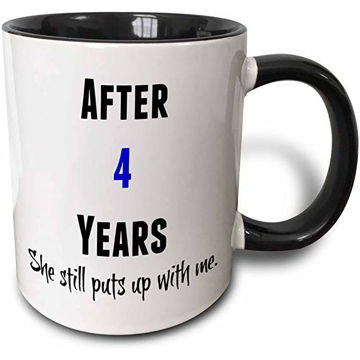 Picture of After 4 Years She Still Puts Up With Me Coffee Mug, 11Oz