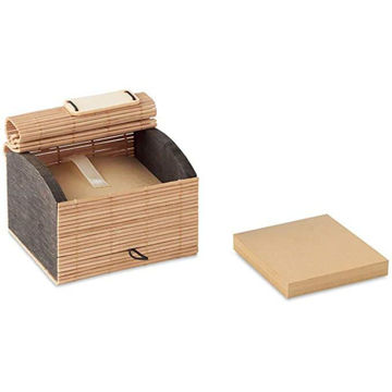 Picture of Bamboo Desk Pad Containing 500 Sheets Of Recycled Paper Note Sheets