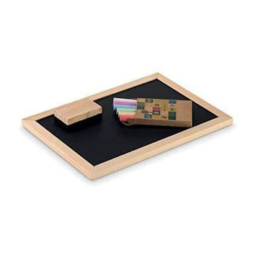 Picture of Chalkboard Set Including 6 Pieces Chalk And Eraser, Kid's Gift