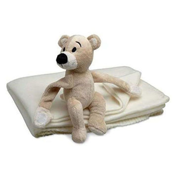Picture of Children's Fleece Blanket With Teddy Bear Toy