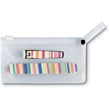 Picture of Colourful Manicure Set In Clear Pouch