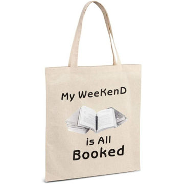 Picture of Cotton Tote Bag, My Weekend Is All Booked, Shopping Bag