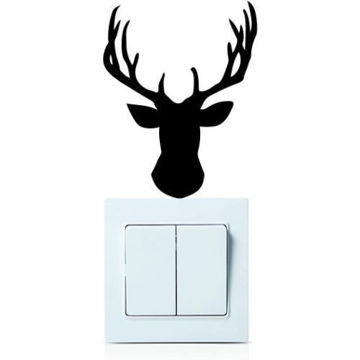 Picture of Deer Head Wall Sticker Decoration