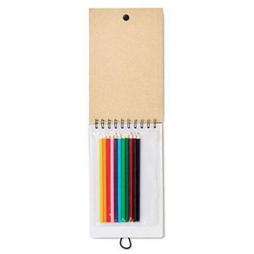 Picture of Drawing Pad With 12 Colouring Pencils