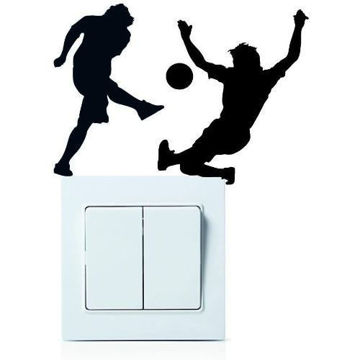 Picture of Football Player Wall Sticker Decoration
