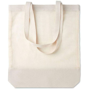 Picture of Mesh Cotton Shopping Bag With Long Handles