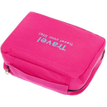 Picture of Multi Pocket Cosmetic Hanging Bag- Pink