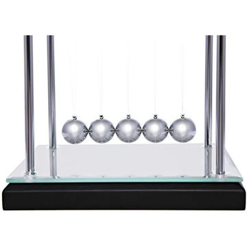Picture of Newton's Cradle, Wood And Mirror Base, 14 X 12 X 14 Cm