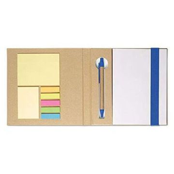 Picture of Notebook With Sticky Notes And Pen