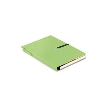 Picture of Recycled Notebook With Lined Paper, Sticky Notes And Coloured Page Tab