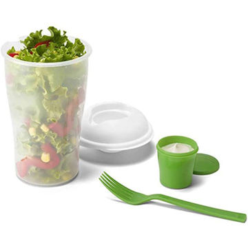 Picture of Salad Cup With Fork And Dressing Container, Capacity Up To 850 Ml