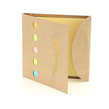 Picture of Sticky Notepad, Soft Touch Cover In Recycled Cardboard, Pack 3 Pieces
