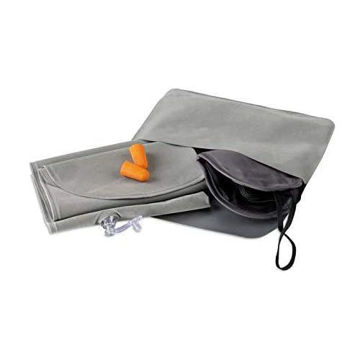 Picture of Travel Set Including A Velvet Inflatable Pillow, Eye Mask And Earplugs