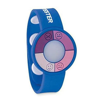 Picture of UV Sensor Silicone Bracelet For Skin Protection Awareness Blue - 3 Pieces