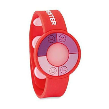 Picture of UV Sensor Silicone Bracelet For Skin Protection Awareness Red- 3 Pieces