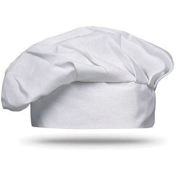 Picture of White Colour Chef Hat Cotton Material With Hook And Loop Closure