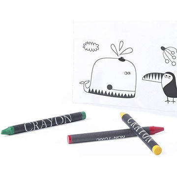 Picture of White Non-Woven Case Especially Designed For Coloring With Crayons