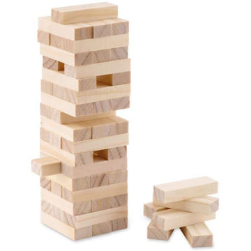 Picture of Wooden Toppling Tower (54 Blocks) In Cotton Carrying Pouch.