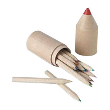 Picture of 12 Wooden Pencils In Pencil Shaped Wooden Box, 2 Boxes