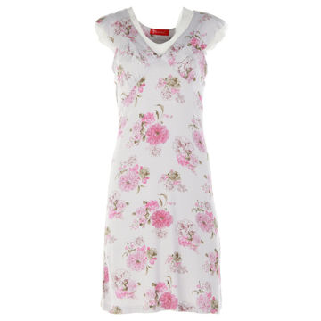 Picture of Joanna Floral Prints Empire Ladies Mini Sleep Dress Set of 12 Pcs, Assorted Color & Size