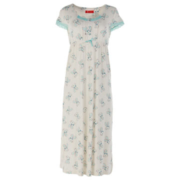 Picture of Joanna Emprire Style Printed Ladies Midi Sleep Dress Set of 12 Pcs, Assorted Color & Size