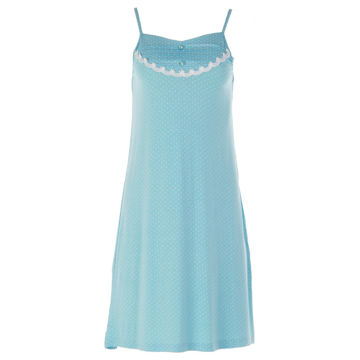 Picture of Joanna Polka Dot Spaghetti Strap Mini Sleep Dress Set of 12 Pcs, Assorted Color & Size
