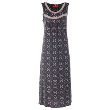 Picture of Joanna Printed Sleeveless Ladies Midi Night Dress Set of 12 Pcs, Assorted Color & Size