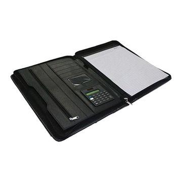 Picture of A4 Portfolio With Calculator And Zipper Closure, A4 Folder