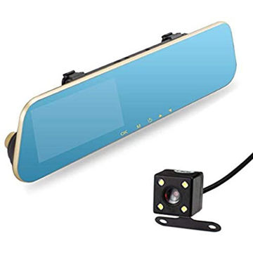 Picture of Dash Cam Dual Lens Rear View Mirror - 4.3inch