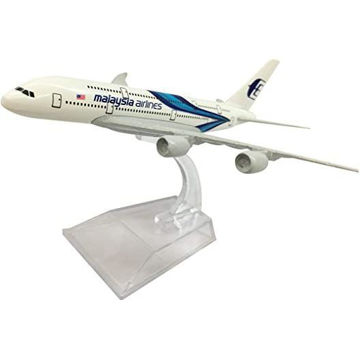 Picture of New Painting Malaysia Airlines A-380 Airplane Model, 16 cm