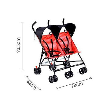 Picture of Two Seater Umbrella Type Stroller, Red