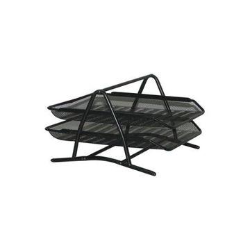 Picture of 2-Tier Desktop Mesh Tray, Black