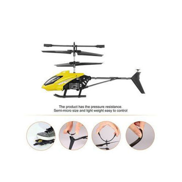 Picture of 3.5 Channel RC Helicopter Drone Toy, Yellow & Black