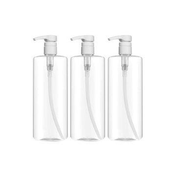 Picture of 3-Piece Empty Shampoo Pump Bottle Set, Clear