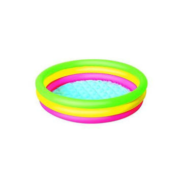 Picture of 3-Ring Inflatable Outdoor Swimming  Pool, 110 L, Multi Colour