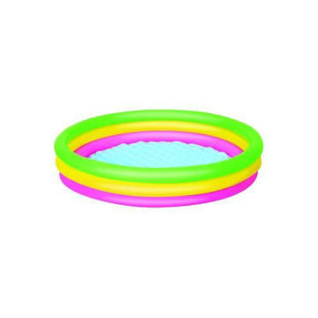 Picture of 3-Ring Inflatable Outdoor Swimming  Pool, Multi Colour