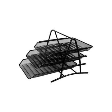 Picture of 3-Tier Metal Wire Document Tray, Black