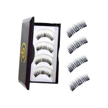 Picture of Magnetic Eyelashes Set - 110, Black, 4Pcs