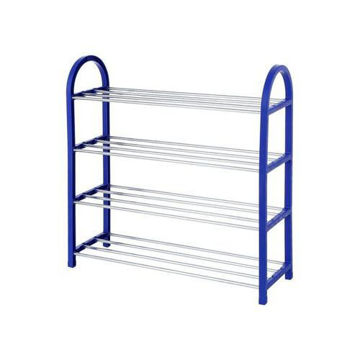 Picture of 4-Tier Shoe Rack Organizer, Blue/Silver