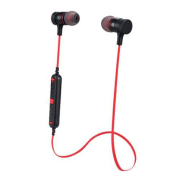 Picture of Wireless Bluetooth Stereo In-Ear Earphones with Mic, Black & Red