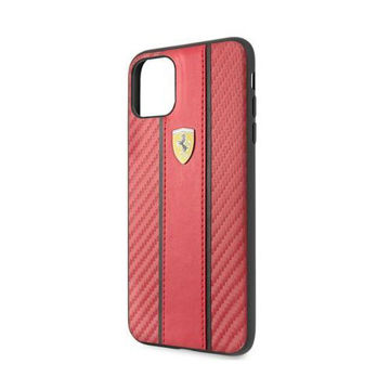 Picture of Carbon PU Leather Hard Case For Apple iPhone XI, Red