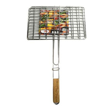 Picture of Stainless Steel BBQ Grill, Silver/Brown